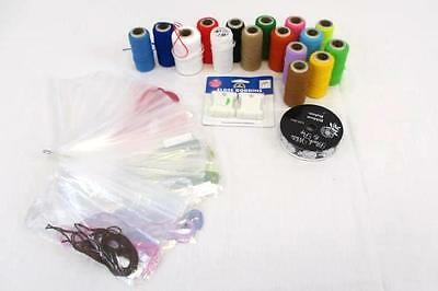 Lot of 15 Misc Acrylic Punch Embroidery Yarn Spools Embroidery Floss Skeins
