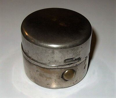 Antique Inkwell Antique Travelling Inkwell Metal With Glass Inside From Estate