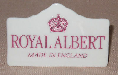 Royal Albert Advertising Sign,to Complement An Old Country Roses Display
