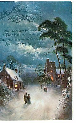 New Year Greetings Postcard 1922 Publisher Wildt And Kray