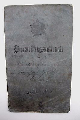 Original WW1Prussian Reservist Soldiers Papers/Mobilsation Authority Terhorst