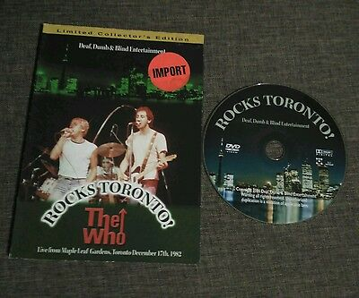 Dvd The Who - Rocks Toronto! - Life From Maple Leaf Gardens - 1982 - December