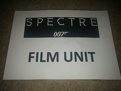 James Bond 007 genuine SPECTRE film prop CAST AND CREW PARKING PASS