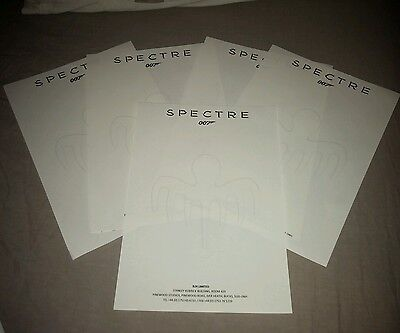 James Bond 007 genuine SPECTRE original film prop studio letterheads x 5