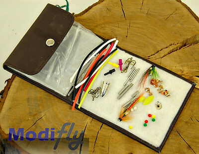 Modifly Threaded Salmon Tube Fly Tying  Kit Complete With Wallet
