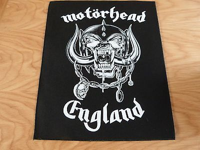 Motorhead - England Giant Back Patch (New) & Official Band Merchandise
