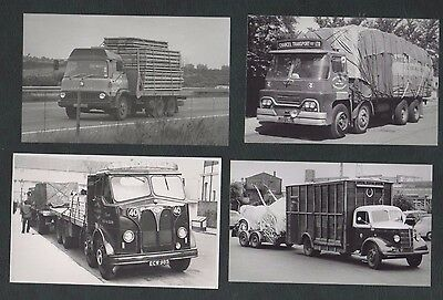4 B&W Repro Photos, Old Lorries, Guy Invincible, Bedford etc