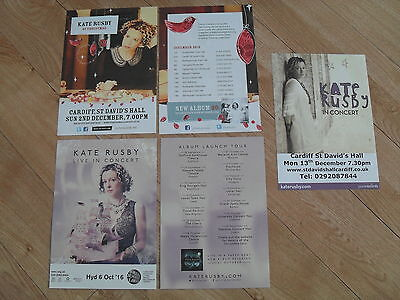 KATE RUSBY - 3 different lovely colour tour flyers (Mint)