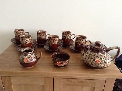 Complete Set Of Fosters Honeycombe Pottery With Labels, Brand New.