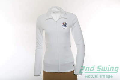 New Womens Nike 2016 Ryder Cup Thermal Zip Jacket Small S White MSRP $105