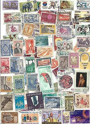 75 Different cancelled Worldwide Stamps 12//30A