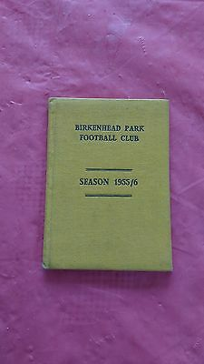 Birkenhead Park 1955-56 Rugby Members Ticket and Fixture Card