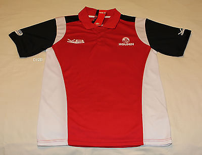 Holden 6.0 Litre V8 Mens Red Printed Short Sleeve Polo Shirt Top Size S New