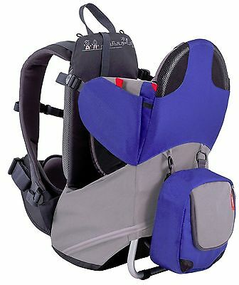 Phil & Teds Parade Child Backpack Carrier Blue / Grey NEW
