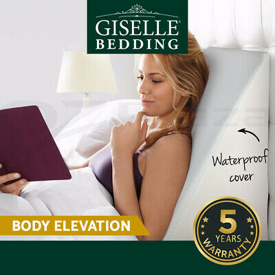Giselle Bedding Memory Wedge Pillow Foam Cushion Neck Back Support WashableCover