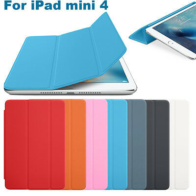 NEW Luxury Slim Magnetic single Leather Smart Cover Sleep case For iPad mini 4