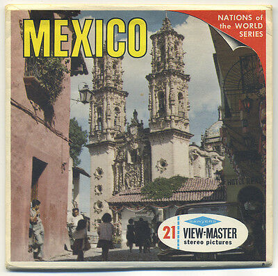 "MEXICO Nations of the World Series Sawyer's View-Master Packet B-001 ""B"" edition"