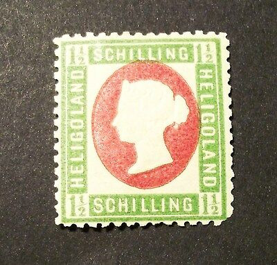 HELGOLAND 1873 Stamp British Colonies #12(A4) 1 1/2 SH*MH,OG *CHOICE (H114)