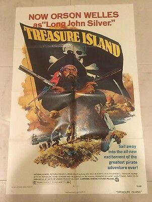 """Treasure Island"" 1972 - Original Vintage (27"" x 41"") Movie Poster (72/397)"