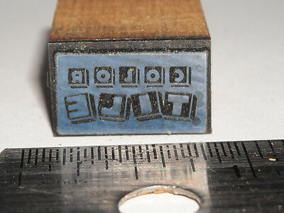 Vintage COLOR TILE LOGO Printing Letterpress Printers Block ENGRAVED Metal Stamp