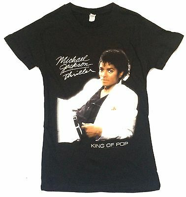 Michael Jackson! Thriller Pic Blk Baby Doll Girls T-Shirt Medium New