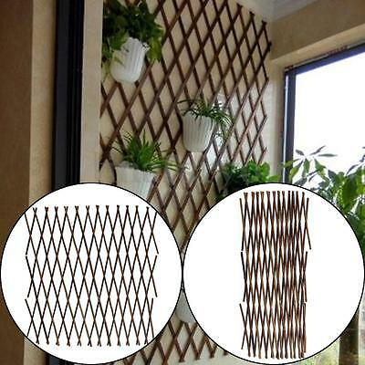 Artificial Expanding Pegwood Wooden Garden Growing Climbing Plant Fence Panel