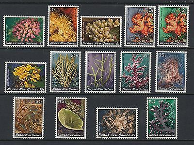 PAPUA NEW GUINEA 1982 CORALS, Set of 14, USED