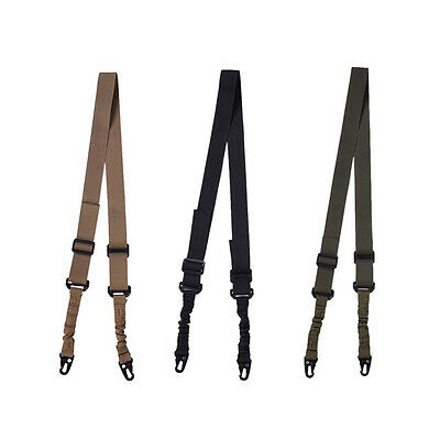 Adjustable Double Point Multifunctional Rifle Sling Bungee Airsoft Hunting Strap