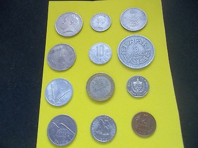 12 Mixed World Coins Nice Small Collection Builder.[#b206] Worth A Look