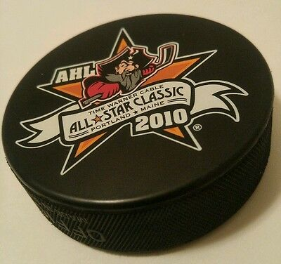 AHL ALL-STAR CLASSIC PUCK 2010 PORTLAND, MAINE hockey SHERWOOD Time Warner Cable