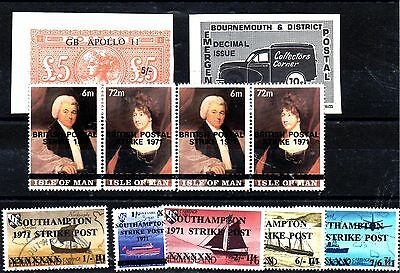 Stamps From Great Britain,postal Strike  1971.,.