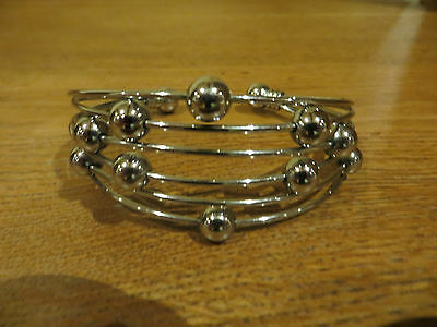 New Silver coloured bangle bracelet with balls - Unwanted Christmas present gift