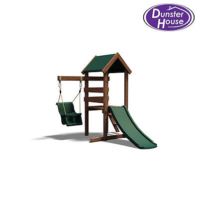 MicroFort Wooden Climbing Frame, Swing and Slide - Dunster House