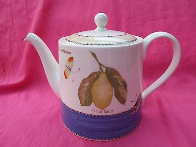 SARAH'S GARDEN Wedgwood Large Two Pint Tea Pot - LEMONS