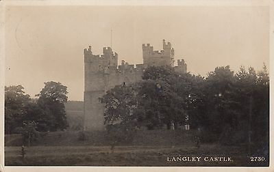 Langley Castle, Real Photo Postcard, used 1916 to St Albans Terrace, Gateshead
