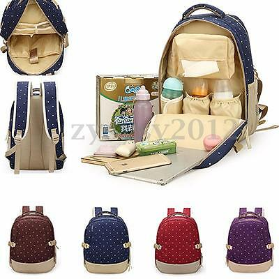 Mummy Baby Diaper Nappy Changing Bag Satchel Rucksack Mother Handbag Backpack