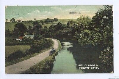 Postcard The Canal Newport Monmouth