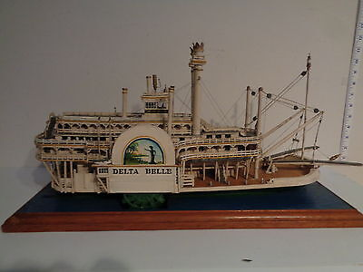 "Vintage RARE Hand Made ""Delta Belle Riverboat"" Model  by Arthur Salmons"