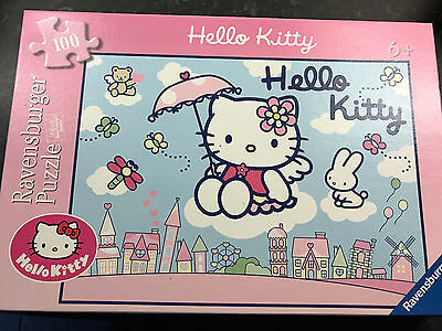 100 Piece HELLO KITTY Jigsaw Puzzle by Ravensbuger Complete 6 Years+