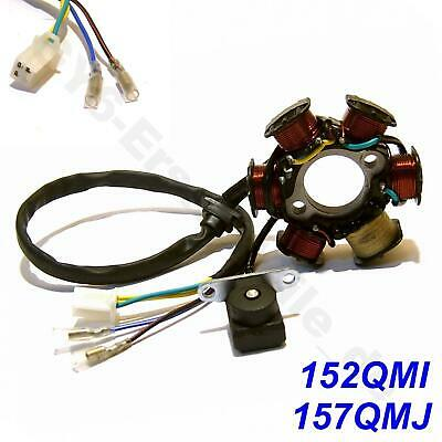 LICHTMASCHINE STATOR z.B. CHINA ROLLER SCOOTER MOPED BUGGY QUAD 152QMI 125cc GY6