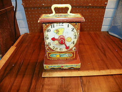1962 Wood FISHER PRICE MUSICAL TICK TOCK Clock #997