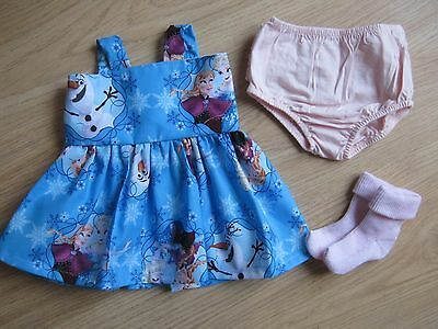 "DOLLS CLOTHES 18"" - FITS BABY ANNABEL - frozen inspired -  HANDMADE - NEW"