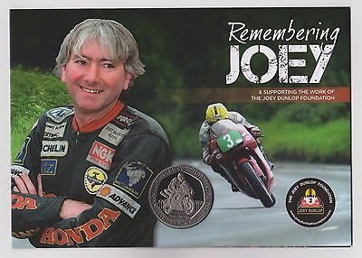 "New ""remembering Joey"" Dunlop Isle Of Man Tt Commemorative Crown In Special Card"