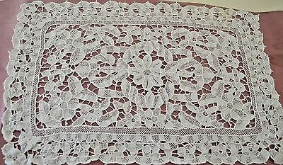 11 Vintage White Needlelace Placemats Ss390