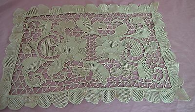 8 Vintage Needle Lace Placemats Handmade Ss396