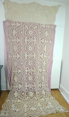 Gorgeous Vintage Needlelace Banquet Tablecloth Ss395