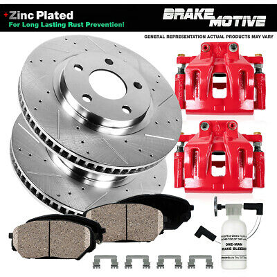 Brake Rotors Ceramic Pads For Jeep Cherokee Wrangler XJ Front OE Calipers