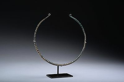 Ancient European Bronze Age Celtic Twisted Torc - 800 BC