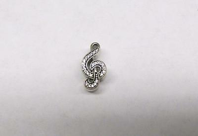 Pandora Sterling Silver Clear Stone Music Charm ~ 2.2 grams ~ 9-A933