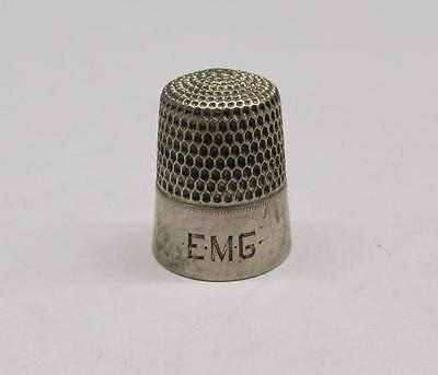 Vintage Sterling Silver EMG #7 Thimble ~ 4.1 grams ~ 8-A895